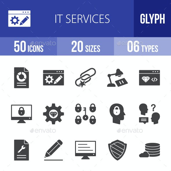 IT Services Glyph Icons