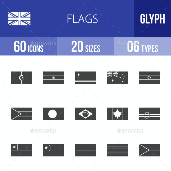 Flags Glyph Icons