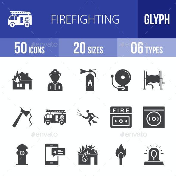 Firefighting Glyph Icons
