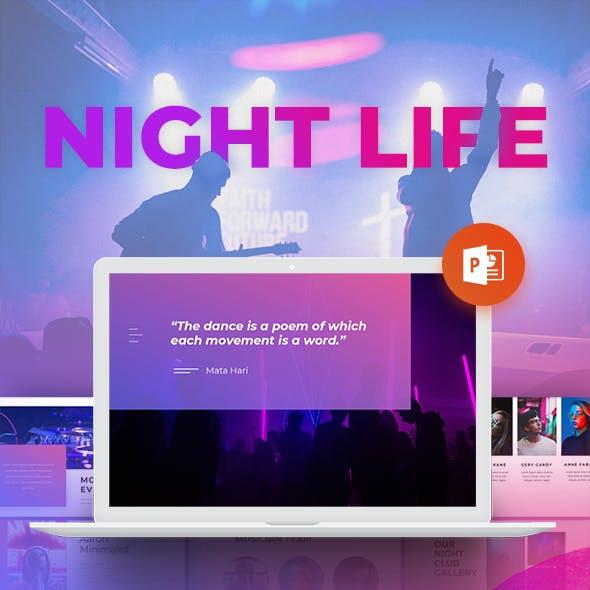 Night Life - Club Powerpoint Presentation