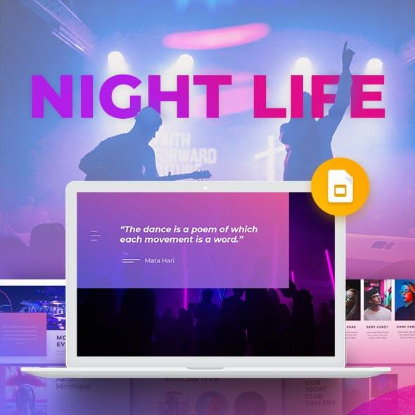 Night Life - Club Google Slide Template