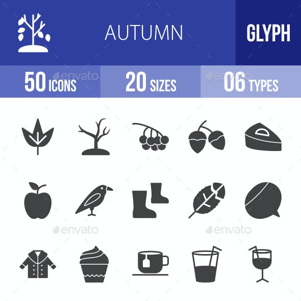 Autumn Glyph Icons