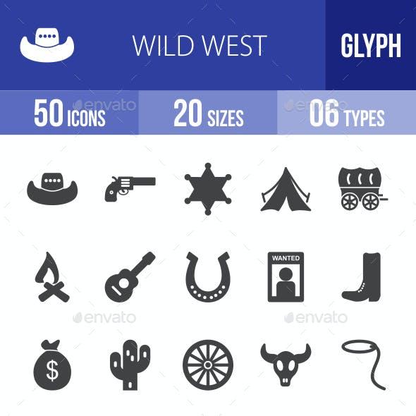 Wild West Glyph Icons