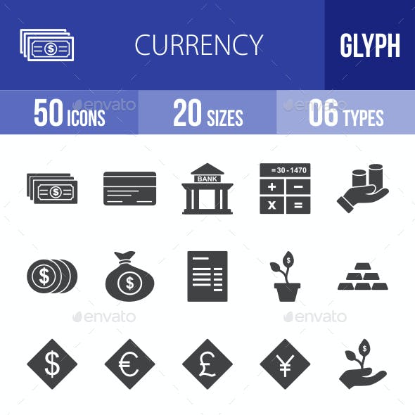 Currency Glyph Icons
