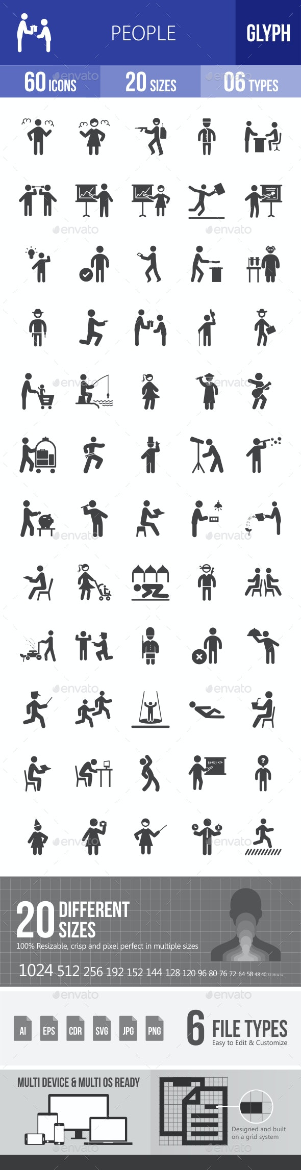 People Glyph Icons - Icons