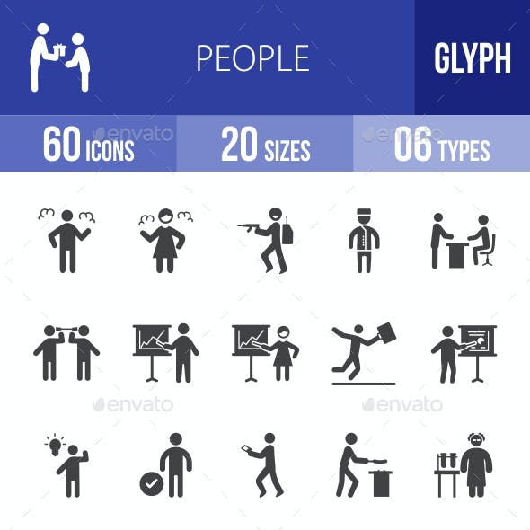 People Glyph Icons