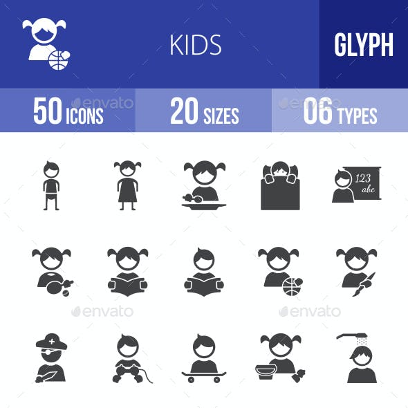 Kids Glyph Icons