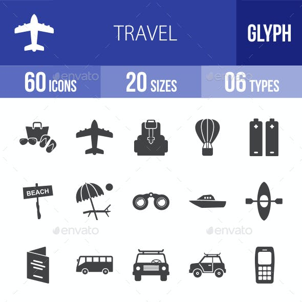 Travel Glyph Icons
