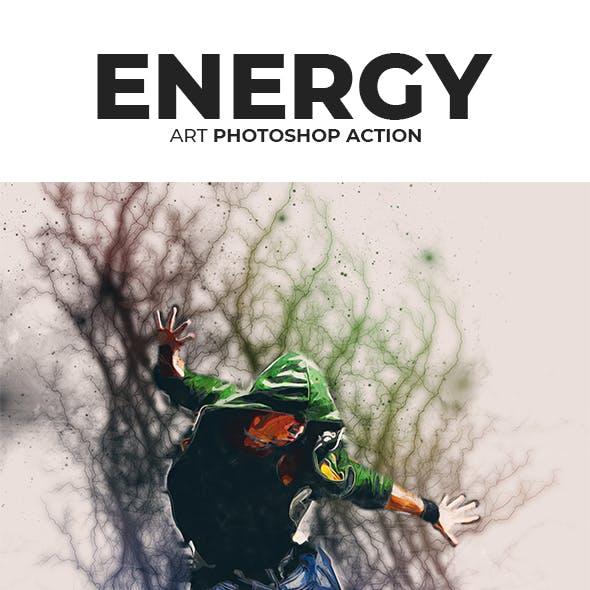 Energy Art Photoshop Action