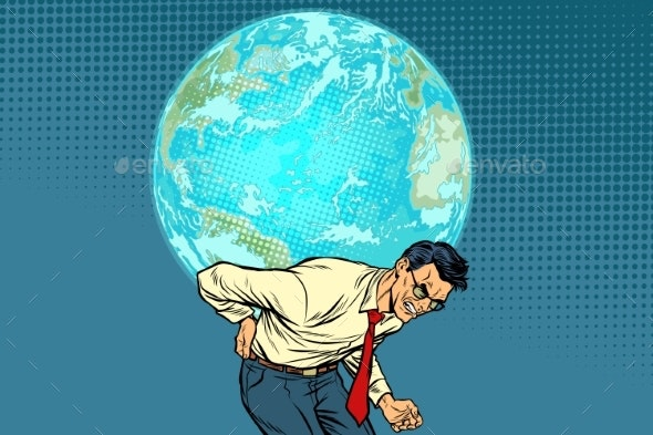 Man Carrying Planet Earth - Miscellaneous Conceptual