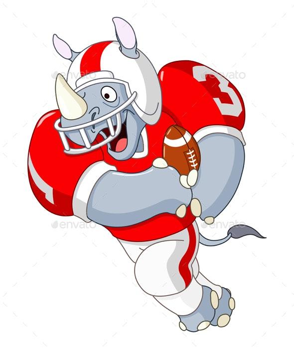 Football Rhino - Animals Characters