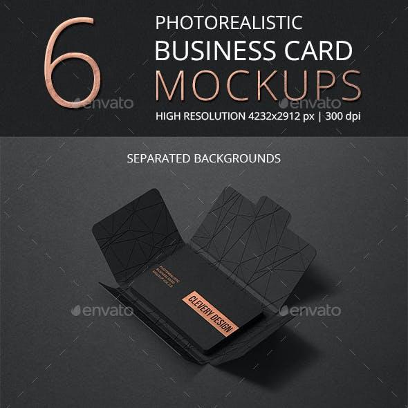 Photorealistic Business Card Mockup Round Corners Vol 2.0