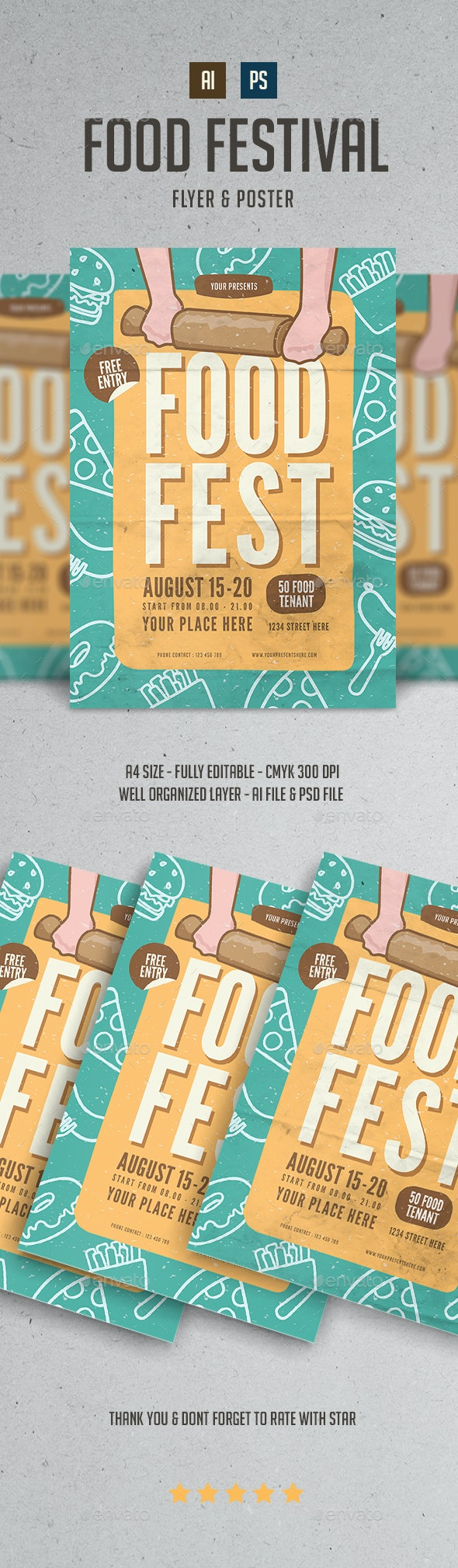 Food Fest Flyer - Events Flyers