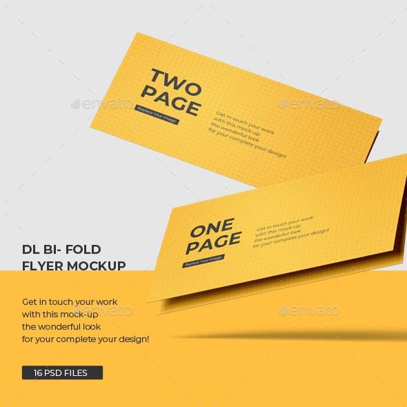 Lanscape DL Bi-Fold Brochure Mockup