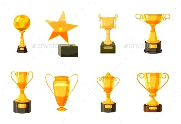 Gold Cup Icon Set - Miscellaneous Vectors