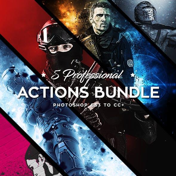 Five Photoshop Actions Bundle - 2018 v2