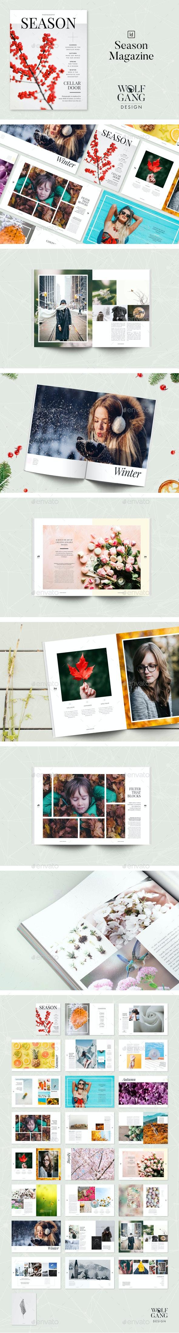 Season Magazine Template - Magazines Print Templates