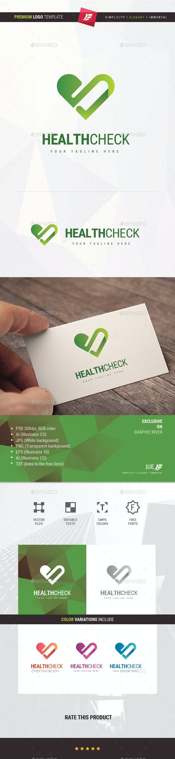 Health Check Logo - Symbols Logo Templates