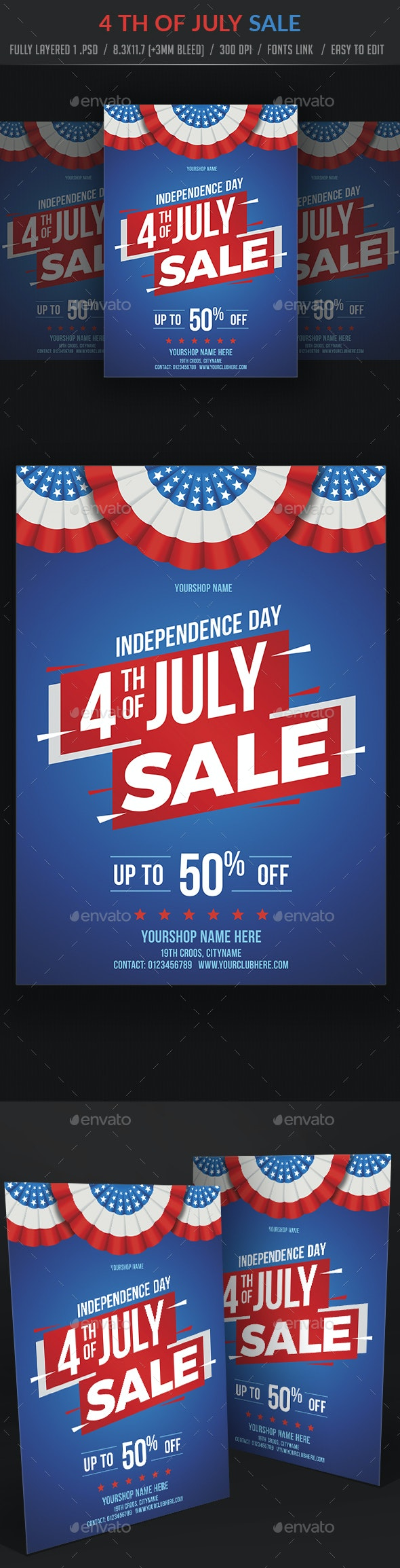4th of July Sale Flyer - Events Flyers