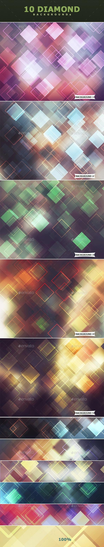 Diamond Photoshop Backgrounds III - Abstract Backgrounds
