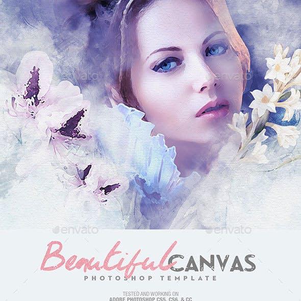 Beautiful Canvas Photoshop Template
