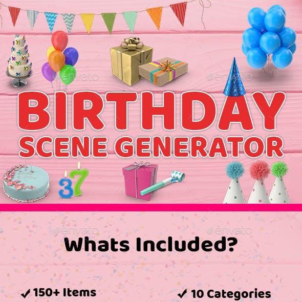 Birthday Scene Generator