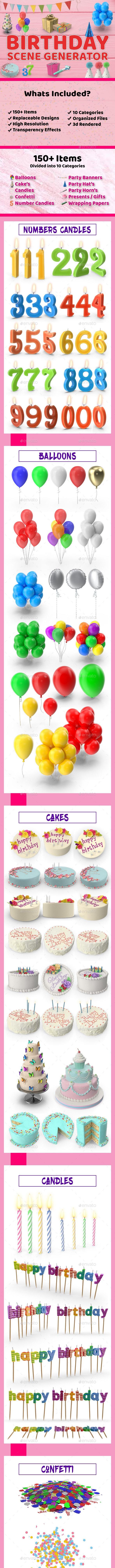 Birthday Scene Generator - Hero Images Graphics
