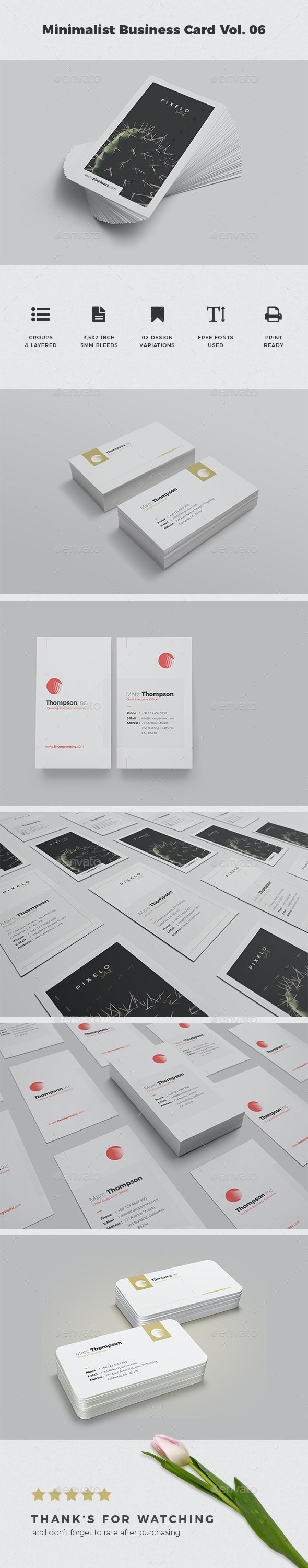 Minimalist Business Card Vol. 06 - Business Cards Print Templates