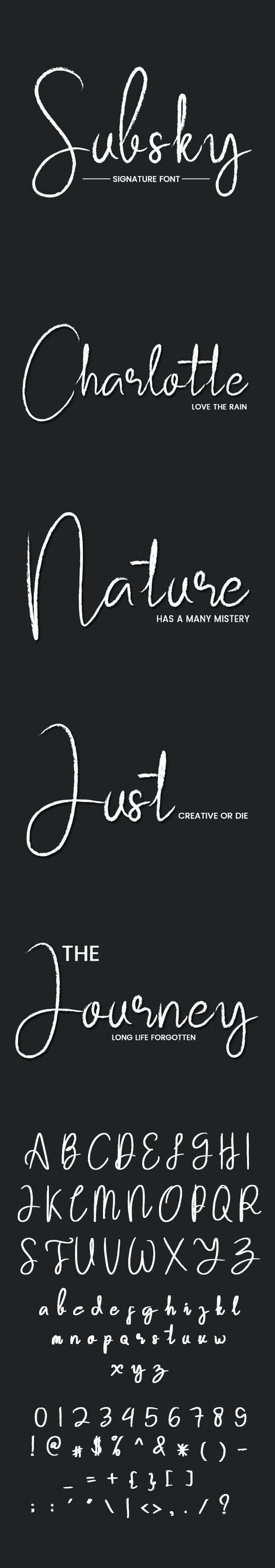 Subsky - Script Fonts