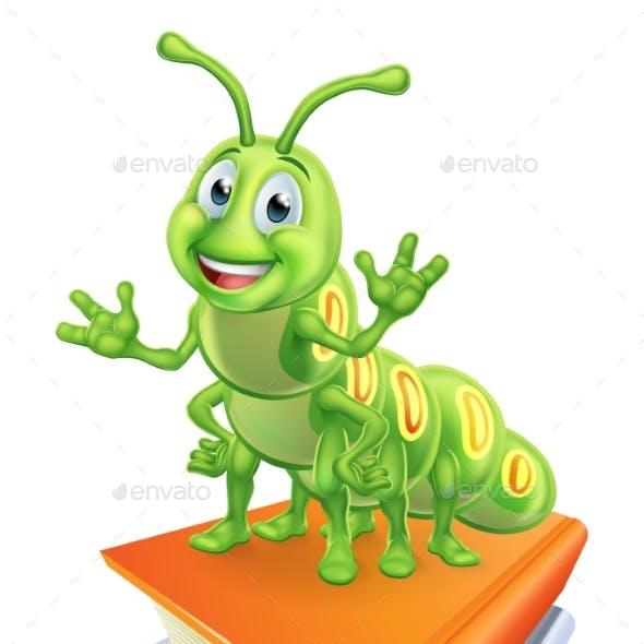 Caterpillar Bookworm Worm on Books