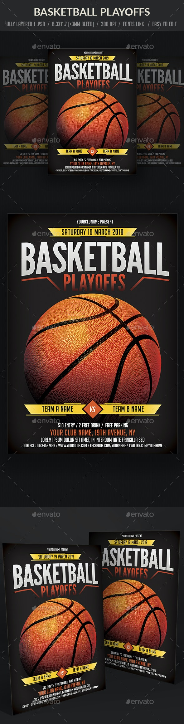 Basket Ball Game Flyer - Sports Events