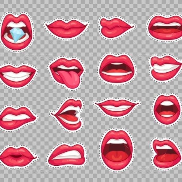 Candy Lips Patches