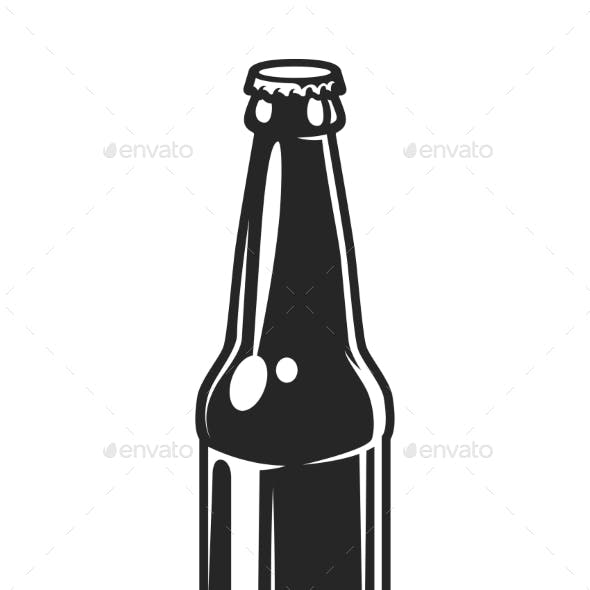Vintage Glass Beer Bottle Template