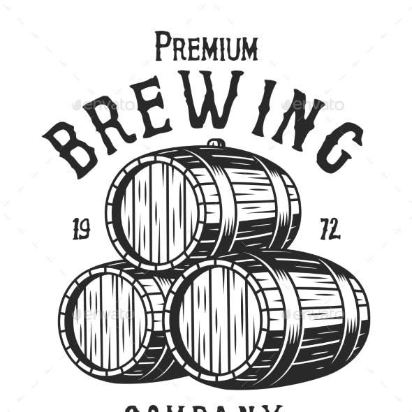 Vintage Monochrome Brewing Company Logotype