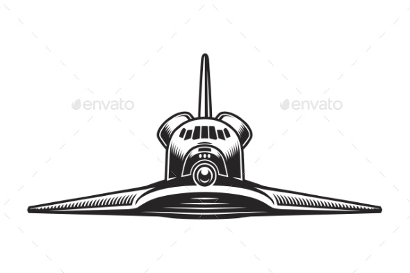 Vintage Space Shuttle Front View Concept - Man-made Objects Objects