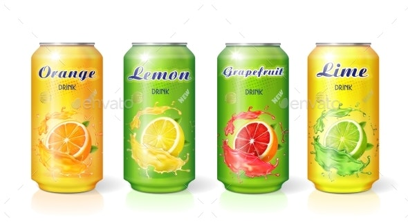 Citrus Soft Drinks - Food Objects