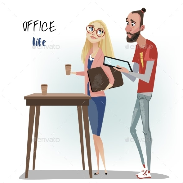 Office People Man and Woman - People Characters