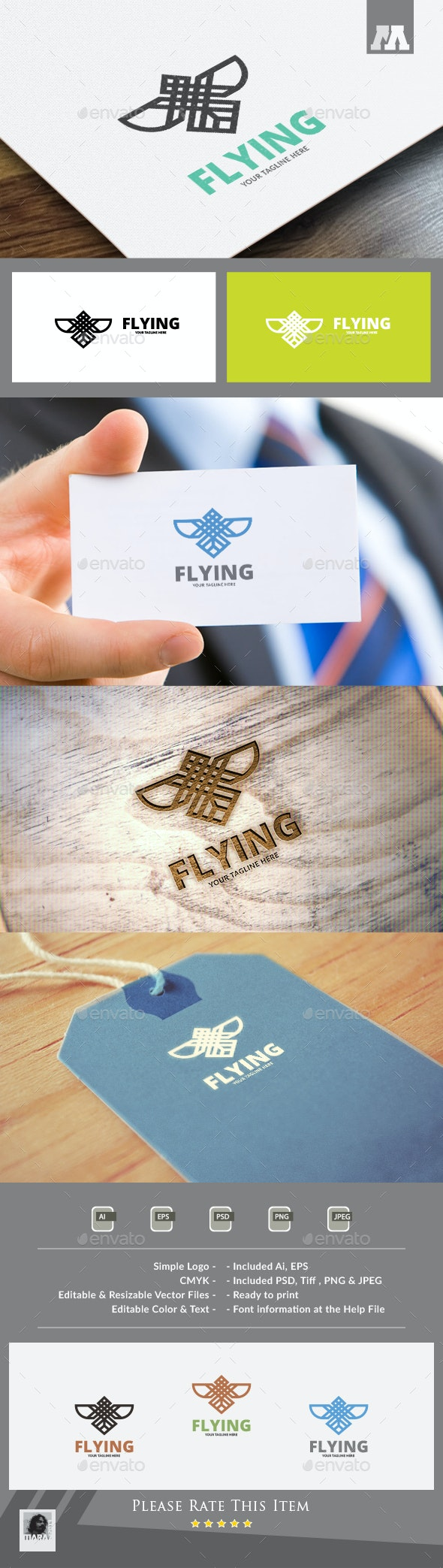Flying Logo - Animals Logo Templates