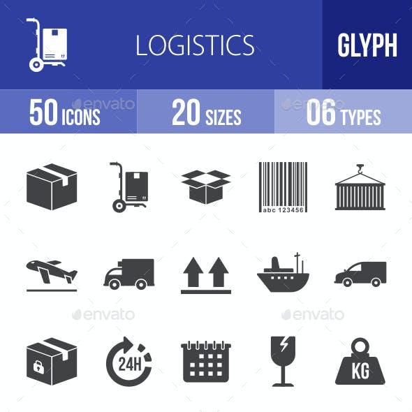 Logistics Glyph Icons