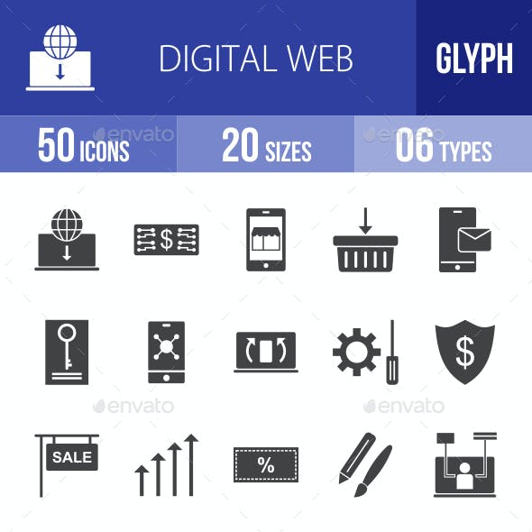 Digital Web Glyph Icons