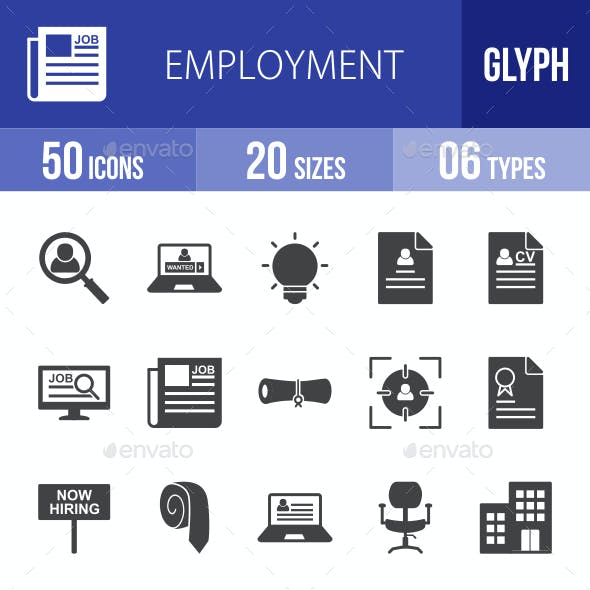 Employment Glyph Icons
