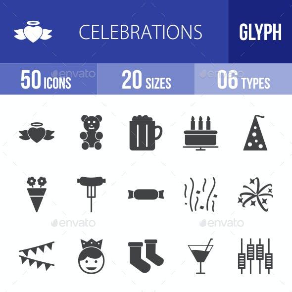 Celebrations Glyph Icons