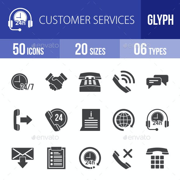 Customer Services Glyph Icons