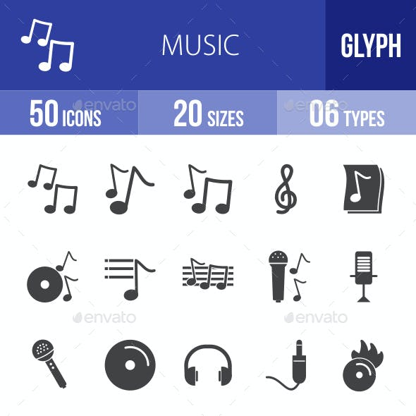 Music Glyph Icons