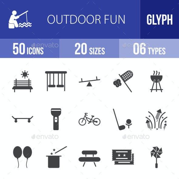 Outdoor Fun Glyph Icons