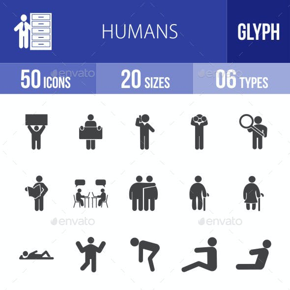 Humans Glyph Icons