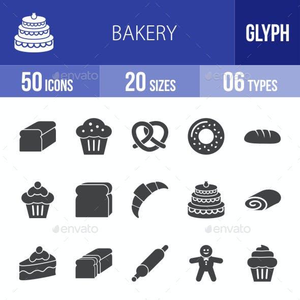 Bakery Glyph Icons