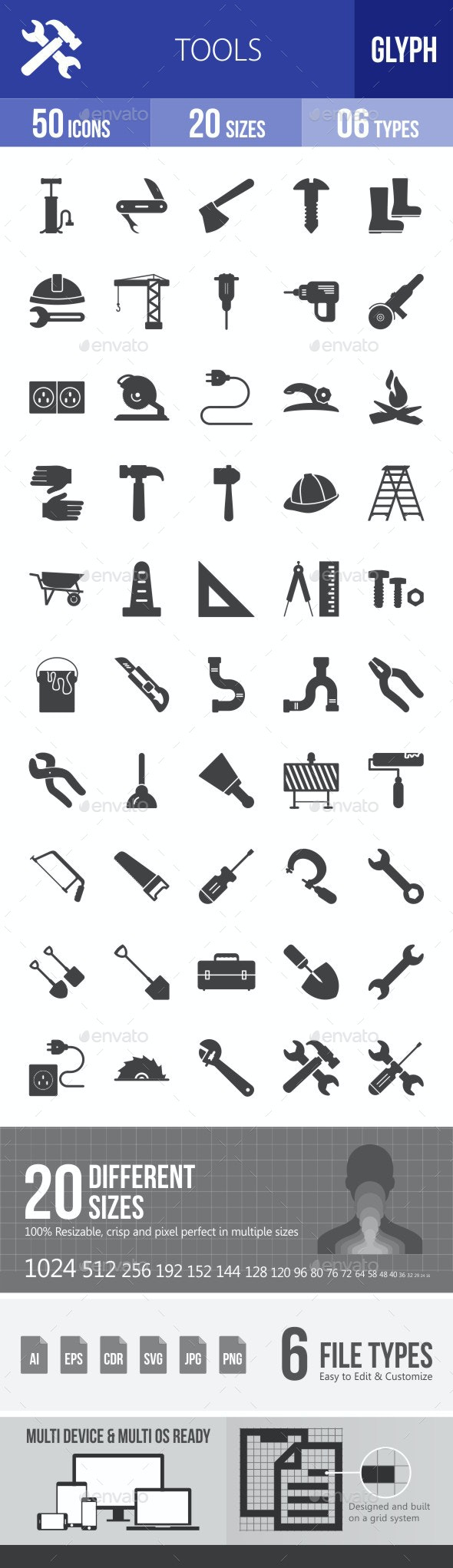 Tools Glyph Icons - Icons