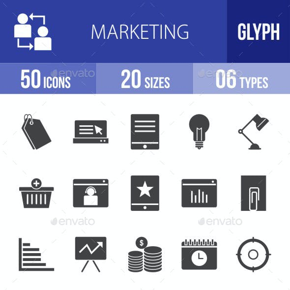 Marketing Glyph Icons