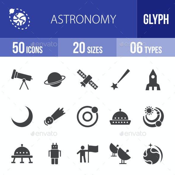 Astronomy Glyph Icons
